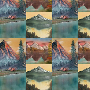 Mountain Lake Collage