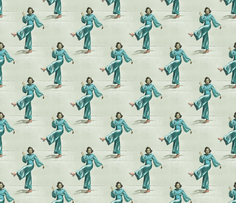 Broadway Blue fabric by louisehenderson on Spoonflower - custom fabric