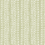 Ditsy Tribal Stripe Washed Moss