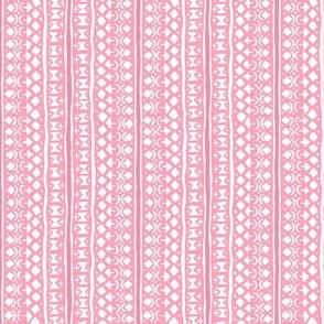 Ditsy Tribal Stripe Pink