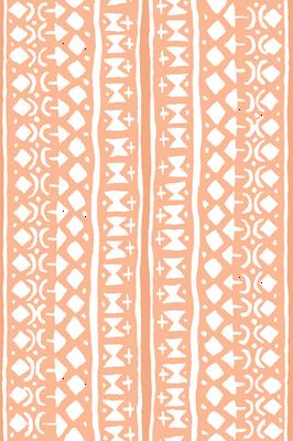 Ditsy Tribal Stripe Washed Orange