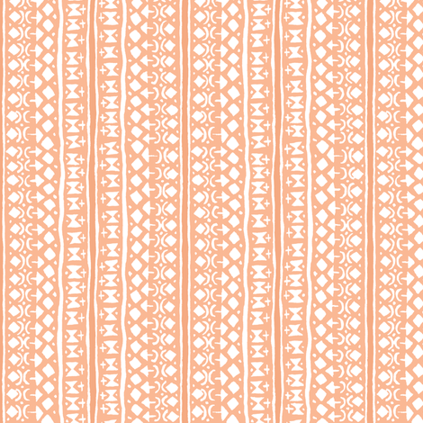 Ditsy Tribal Stripe Washed Orange fabric by shi_designs on Spoonflower - custom fabric