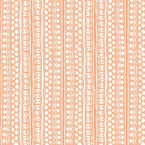 Ditsy Tribal Stripe Washed Orange