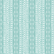 Tribal Warrior Stripe Washed Aqua