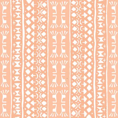 Tribal Warrior Stripe Peach