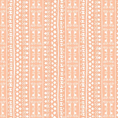 Tribal Warrior Stripe Peach fabric by shi_designs on Spoonflower - custom fabric