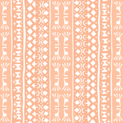 Tribal Warrior Stripe Peach