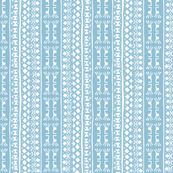 Tribal Warrior Stripe Pale Blue