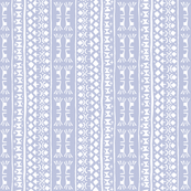 Tribal Warrior Stripe Washed Lavender