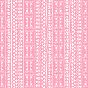 Tribal Warrior Stripe Light Pink
