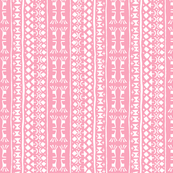 Tribal Warrior Stripe Pink