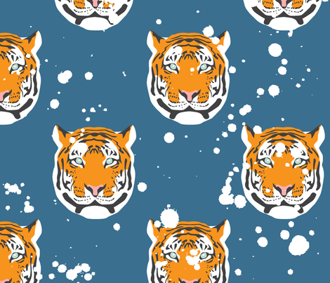Tigers | Wren & Rumor fabric by wren_&_rumor on Spoonflower - custom fabric