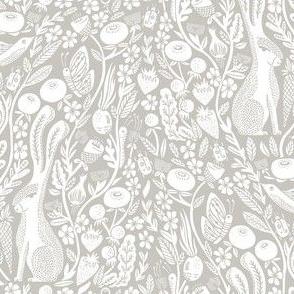 hare // linocut hare woodland nature botanical print linocut design