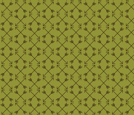 Mountain Friendship Arrows fabric by whyitsme_design on Spoonflower - custom fabric
