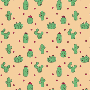 cactus repeat on peach