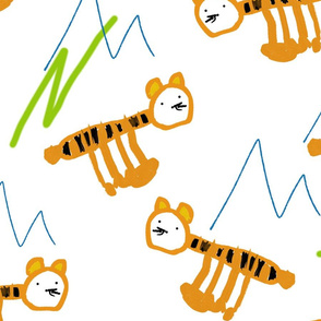 tigers and mountains