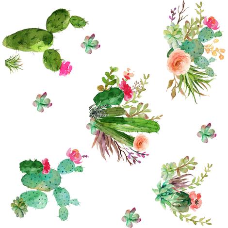 Western Flowers - 90 degrees fabric by shopcabin on Spoonflower - custom fabric