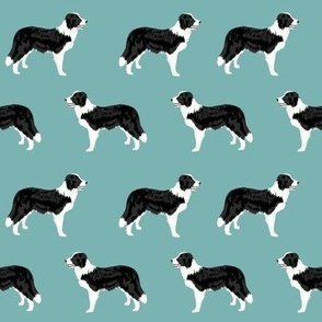 border collies light teal  border collie fabric collies