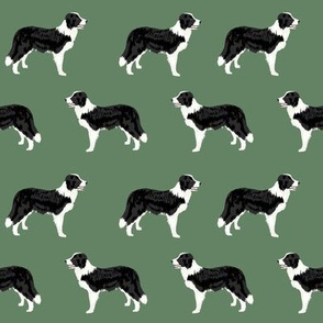 border collies medium green border collie fabric collies