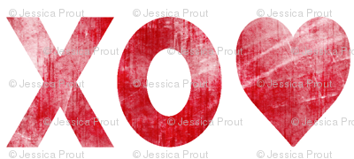 XO♥  red // distressed