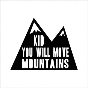 "17"" square with cut lines minky layout - Kid you will move mountains"
