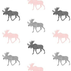 multi moose (small scale) || pink & grey