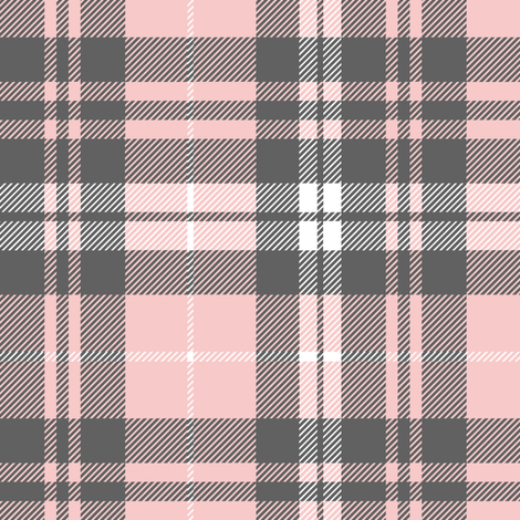 Pink and grey plaid || wholecloth coordinate fabric by littlearrowdesign on Spoonflower - custom fabric