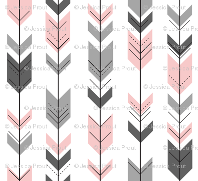 fletching arrows (small scale) || pink and grey