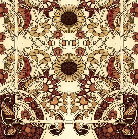 In a Chocolate Garden fabric by edsel2084 on Spoonflower - custom fabric