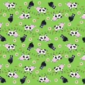 Mini Cow & Dog Green