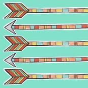 Linen Tea Towel | Arrows and Aqua