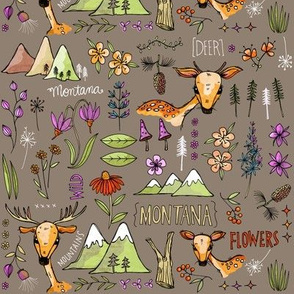Wild and Deer - taupe