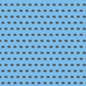 blue and gray elephants
