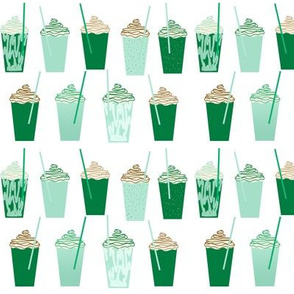 shamrock shake mint iced drink coffee milkshake st patricks day
