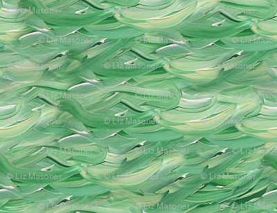 Painting Green Waves
