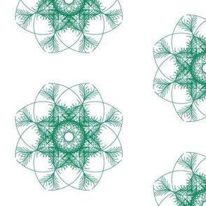 dark green geometric flower