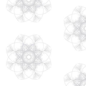 grey-white  geometric flower