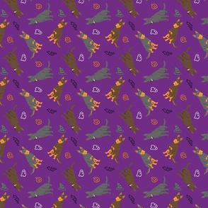 Tiny Australian Kelpies - Halloween