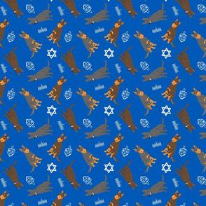 Tiny Australian Kelpies - Hanukkah