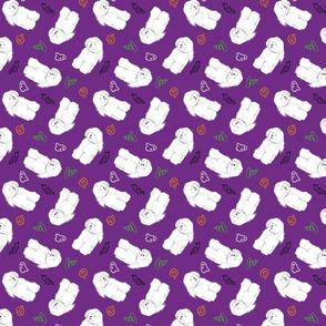 Tiny Bichon Frise - Halloween