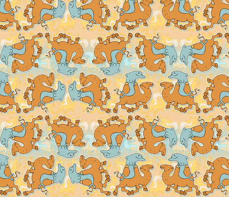 dolphins riding camels fabric by hannafate on Spoonflower - custom fabric