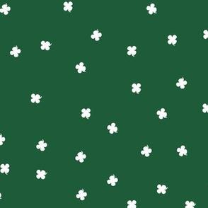 Clover Dots - Green & White