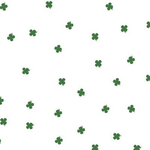Clover Dots - White & Green