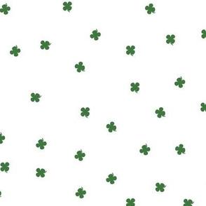 Clover Dots - White & Green