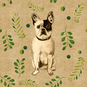 French Bulldogs on Linen