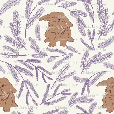 Baby rabbit pattern 01