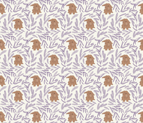 Baby rabbit pattern 01 fabric by maria_minkin on Spoonflower - custom fabric