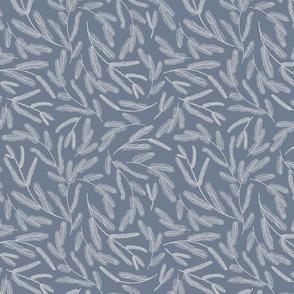Pastel blue pine branches
