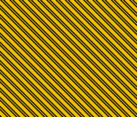 Magic School Inspired Badger House Diagonal Stripes fabric by designedbygeeks on Spoonflower - custom fabric