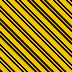 Magic School Inspired Badger House Diagonal Stripes